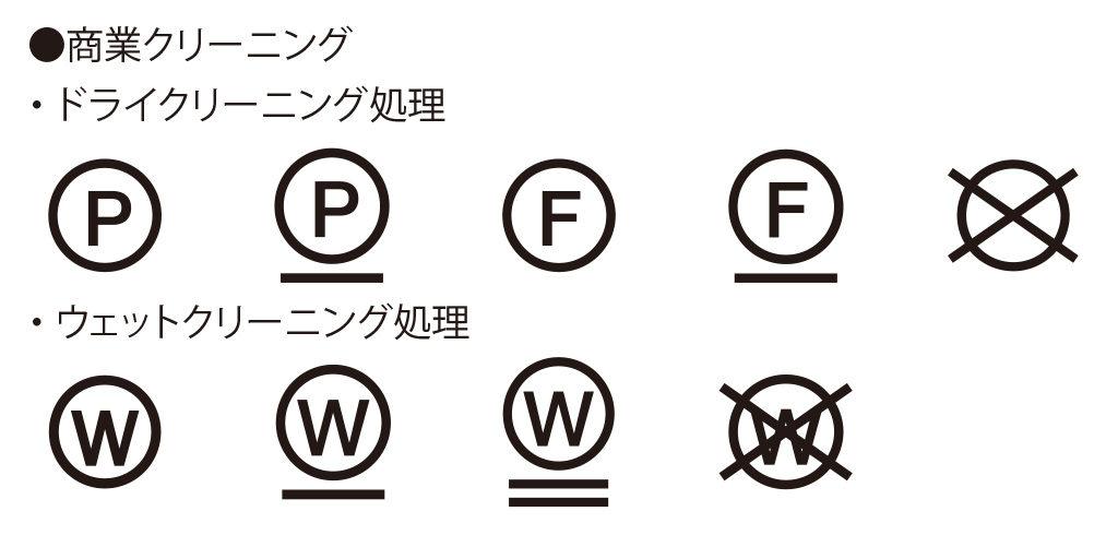 洗濯表示記号(洗濯マーク)クリーニング処理
