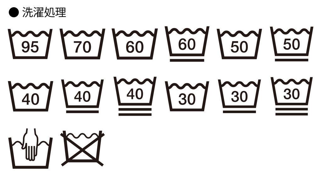 洗濯記号(洗濯マーク) 洗濯処理