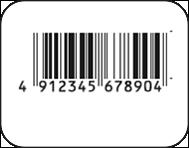 園芸用品値札ラベル印字イメージ1JANコード(バーコード)のみ