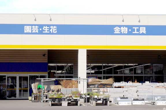 ホームセンター・ショッピングモール屋外の売場のイメージ