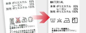 洗濯絵表示が変わります