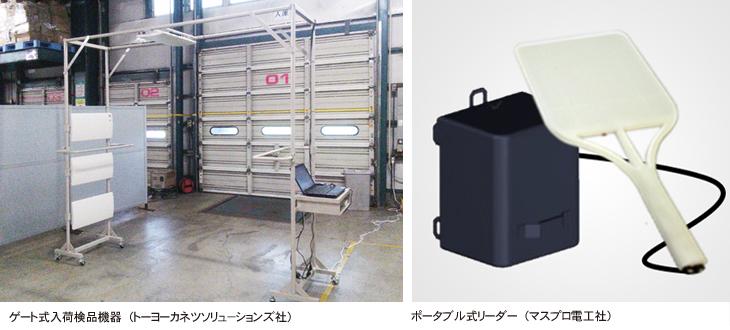 トラックヤードのRFIDゲートとハンディRFIDリーダアサヒリンクのRFIDシステム