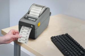 ZD410小型のラベル印刷プリンタ