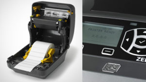 ZD500Rは用紙やリボンの交換も簡単