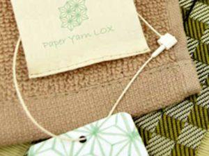 紙糸LOXはナチュラルな見た目と焼却しても安心のタグファスナー