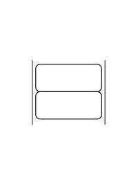 標準11号札 2連貼札 プロパーラベル イメージ