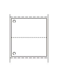 標準3号札 プロパー貼り合わせタグ