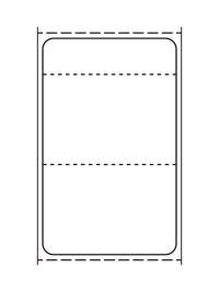 標準9号札 貼札 プロパーラベル イメージ