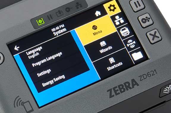 Zebra ZD621RFIDの操作パネル