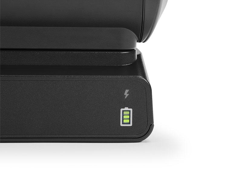 ラベルやレシートなどを業務で一日中使用しても安心のバッテリー容量