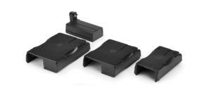 ゼブラプリンタのサイズに合わせたベースとバッテリーパック