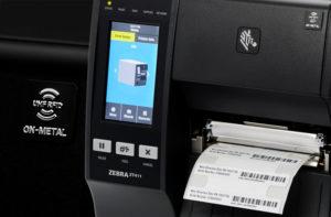 ZT411RFIDは金属用RFIDラベルの印刷・エンコードがオプションで取り付け可能