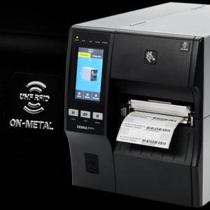ZT411はオンメタル専用パーツを取り付けるだけでSilverline印刷エンコード可能