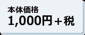 本体価格1,000円+税